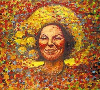 Portret van koningin Beatrix